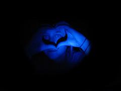 Sister Heart Hands ( MissMaryMakk ) Tags: girl hands heart sister blueled hearthands