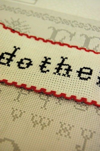 WIP - counted cross stitch