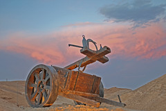a Roman catapult at masada (A   M) Tags: sea dead israel desert roman authority parks machine unesco national isreal fighting  masada romans catapult judea  reconstructed      legiox                 romancatapultmachine
