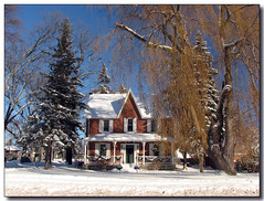 After the Storm (Lisa-S) Tags: blue trees winter sky house snow ontario canada searchthebest lisas explore soe allrightsreserved themoulinrouge 5372 cookstown interestingness188 i500 anawesomeshot aplusphoto superbmasterpiece thegardenofzen goldstaraward copyrightlisastokes