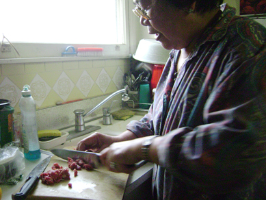 mom cooks tripe