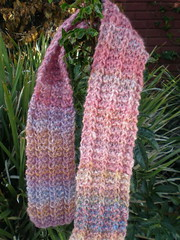 one row handspun scarf, leaf peep