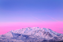 [フリー画像] 自然・風景, 山, 夕日・夕焼け・日没, アメリカ合衆国, ユタ州, 201005131300