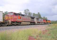 BNSF eastbound freight, with former ATSF GE