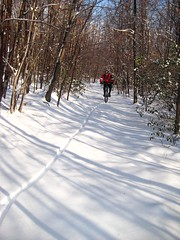 Snow ride at the Frederick Watershed