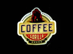 gorilla coffee (volvidejapon) Tags: city nyc travel autumn usa newyork fall sign brooklyn night corner noche store cafe billboard flavio cartel gorillacoffee ©allrightsreserved instantfav volvidejapon ©todoslosderechosreservados ®volvidejapon ©volvidejapon