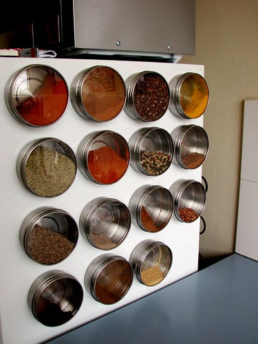 Spice Wall on my Fridge