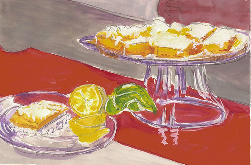 Lemon Squares in Gouache