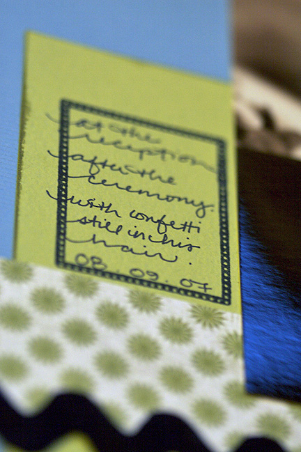 stamp and journalling detail