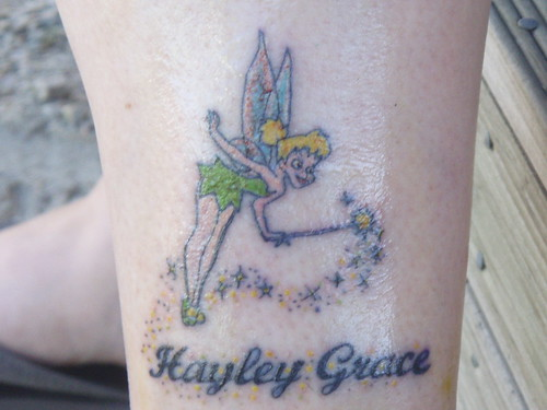 tinkerbell tattoo by R8HSV. My new Tattoo for my baby girl a bit bloody and