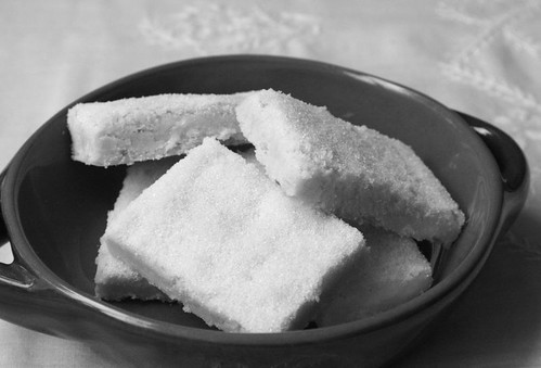 Meyer Lemon Shortbread: b&w