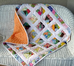 crazy quilt with back