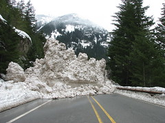 SR 20 - Snow Slide (by Washington State Dept of Transportation)