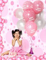 I'm 2! (mylaphotography) Tags: birthday balloons polkadots birthdaycake happybirthday prettyinpink lunareclipse pinkpolka fairytalephotography