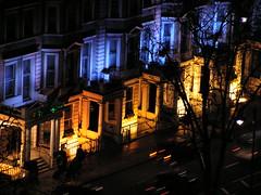 Pretty Lights (John of Witney) Tags: blue light orange london yellow night holidayinn kensington colourful catchycolorsyellow catchycolorsblue catchycolorsorange mywinners