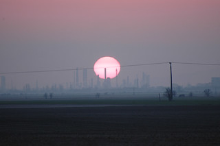 Sunset over Slovnaft