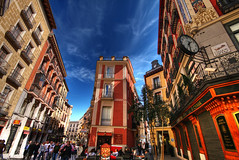 Madrid Casco viejo (GustavoCba) Tags: madrid espaa winnr goldstaraward abigfave alemdagqualityonlyclub 5photosaday supershot superbmasterpiece hdr canon 400d photoshop fotgrafos argentinos cordobeses travel argentino trip photo city architecture color colour europe spain clouds iconos citycape outdoors destination imagination digital cloud exterior famous place ideas memories world illuminated international landmark history photography photpgrapher high angle capital cities no people building day vacation sigma beutiful scenery nature awesome manual art autumn fun love portrait