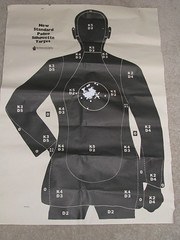 52 Rounds from Glock 23 (itwuzcryptic) Tags: silhouette gun shoot smith target sw guns shooting 23 bullet 40 range glock wesson