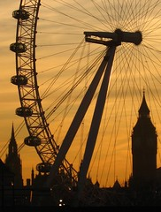 London Eye & Big Ben at sunset