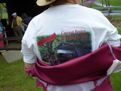 Crystal and her Covered Bridge Shirt