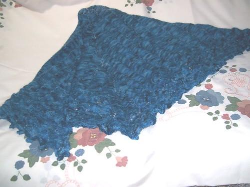 Before blocking (looks like blue lettuce!)