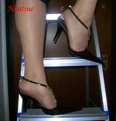 Brown snake and a ladder (Kwnstantina) Tags: brown feet stockings lady female foot chains high women toes pumps highheels legs sandals sling heels tight sole pantyhose soles nylon longlegs ticklish slingbacks slingback pedi sandalo sexyfeet nylonfeet pointynose nylonpantyhose sexyheels nylontoes brownpumps    highheelart