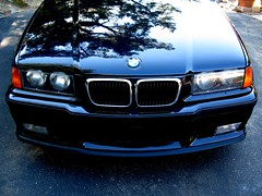 M3/4/5 (youneverknowphotography) Tags: black reflection tree car canon powershot grill bmw 1997 manual m3 kidney cosmos ambers 5speed g7 e36