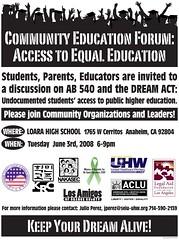 Community Education Forum Flyer