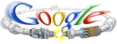 Google Large Hadron Collider Logo