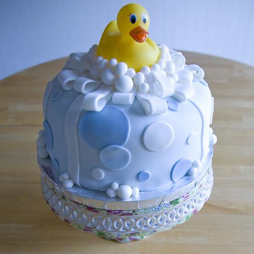 Rubber ducky fondant cake