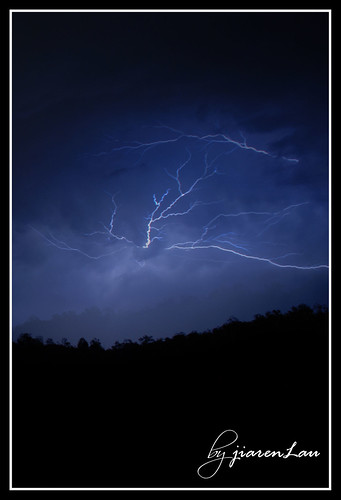 Lightning from Emu Gully near Toowoomba during our church camp...it hailed that day but it didnt reach us...