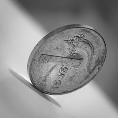 B&W (Massimo Buccolieri) Tags: 1956 bw macromondays italian lira oldcoin una