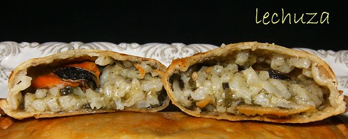 Empanadillas arroz con algas-interior