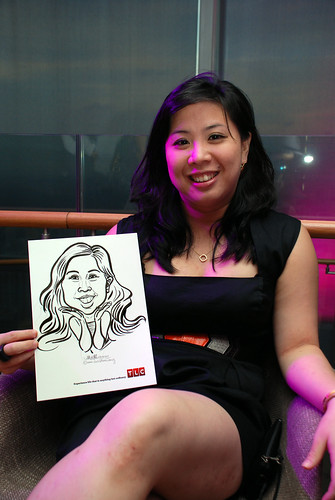 Caricature live sketching for TLC - 7