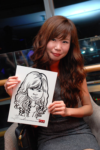 Caricature live sketching for TLC - 21