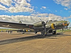 B17 Flying Fortress (tdcphotos) Tags: canon wings aircraft airshow b17 duxford boeing bomber hdr warbird airfield canonpowershot sallyb usaaf sx10is
