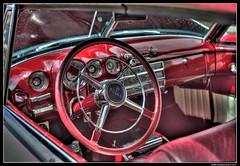Interior '49 Buick (captured on 5.28.2011) (jbone66 (Jay B)) Tags: red classic car canon vintage buick raw 49 hdr 202 1949 3xp