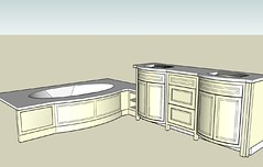 lucas master bath model with legs (Couture Designs) Tags: bath curved vanities lucasbath