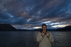 Geezer (chickenparma) Tags: newzealand portrait lake mountains clouds self wanaka