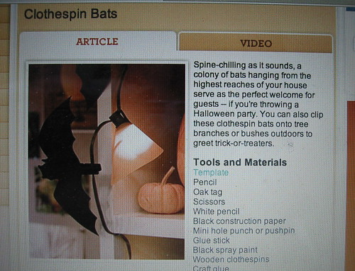Martha Stewart's clothespin bats