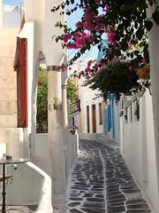 An alley in Mykonos