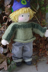 meet graham! (UncommonGrace) Tags: wool sweater doll handmade waldorfdoll steinerdoll feltcorduroy