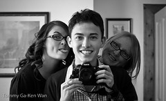 Family (TGKW) Tags: family portrait people blackandwhite reflection self mirror expression