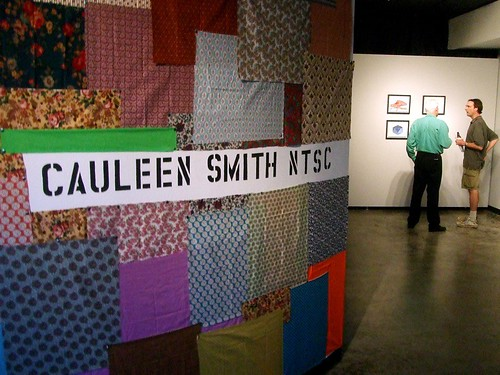 Title wall for Cauleen Smith's show NTSC, at Women and Their Work