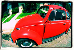 Red Daisie (skippi1234) Tags: car vw beetle oldcar kever