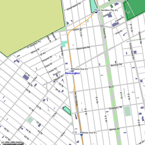 OASIS Neighborhood Map for Kensington with Vacant Lots