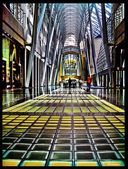 Atrium Between Bank Towers (shchukin) Tags: toronto ontario canada architecture explore bceplace pentaxoptios40 platinumphoto superhearts theperfectphotographer shchukin updatecollection imagepastfeaturedwinner
