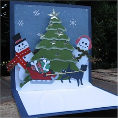 snowman pop-up6 (cornerstonelae) Tags: christmas snowman card popup etsy greeting