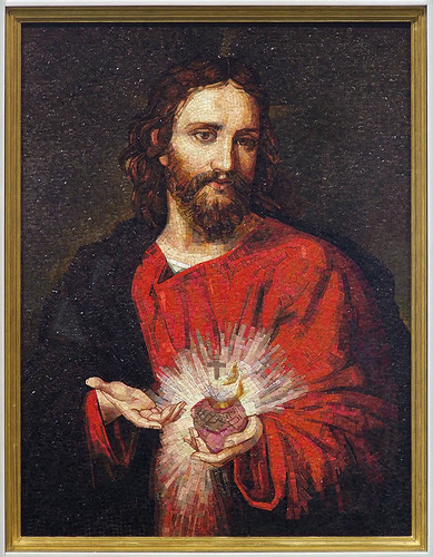 Shrine of the Sacred Heart at the Cathedral Basilica of Saint Louis, in Saint Louis, Missouri, USA - mosaic of Christ 2.jpg