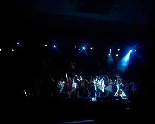 Lights go down on the cast of Footloose.